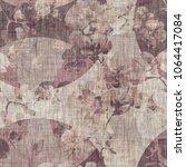 seamless pattern. floral... | Shutterstock . vector #1064417084