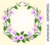 beautiful wreath with morning... | Shutterstock .eps vector #1064428421