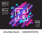 vector abstract futuristic sale ... | Shutterstock .eps vector #1064435351