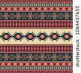 ethnic seamless pattern. tribal ... | Shutterstock .eps vector #1064437655