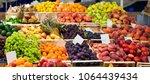 mediterranean fruits and... | Shutterstock . vector #1064439434