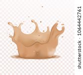 soft liquid foundation effects... | Shutterstock .eps vector #1064442761