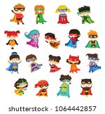 cartoon vector illustration of... | Shutterstock .eps vector #1064442857