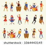 vector illustration in a flat... | Shutterstock .eps vector #1064443145