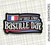 vector logo for bastille day in ... | Shutterstock .eps vector #1064454281