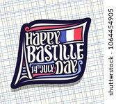 vector logo for bastille day in ... | Shutterstock .eps vector #1064454905