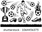 set of soccer elements and... | Shutterstock .eps vector #1064456375