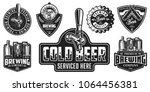 set of badges with beer...   Shutterstock .eps vector #1064456381