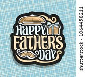 vector logo for fathers day... | Shutterstock .eps vector #1064458211