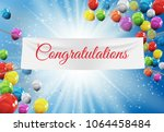 winner congratulations... | Shutterstock .eps vector #1064458484