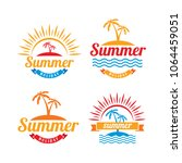 set of summer logo template.... | Shutterstock .eps vector #1064459051