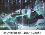 abstract blurry financial... | Shutterstock . vector #1064462054