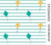 cute kites seamless vector...   Shutterstock .eps vector #1064463161