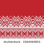 christmas and new year sweater... | Shutterstock .eps vector #1064464841