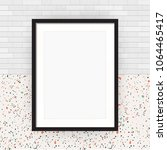 blank picture frame on white... | Shutterstock .eps vector #1064465417
