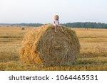 little girl walking in the... | Shutterstock . vector #1064465531