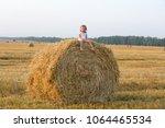 little girl walking in the... | Shutterstock . vector #1064465534