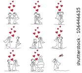 9 set of cute little cartoon...   Shutterstock .eps vector #106446635