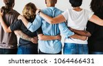 diverse people with teamwork... | Shutterstock . vector #1064466431