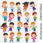 cartoon character boys and... | Shutterstock .eps vector #1064470061