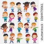 cartoon character boys and... | Shutterstock .eps vector #1064470061