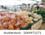 defocused of vegetables and... | Shutterstock . vector #1064471171
