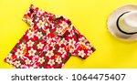 straw man's hat. songkran... | Shutterstock . vector #1064475407