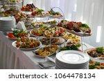 catering service. restaurant... | Shutterstock . vector #1064478134