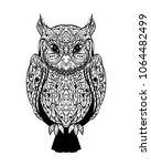 mystic graphic ink wild wise... | Shutterstock .eps vector #1064482499