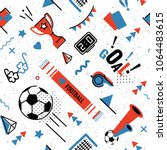 soccer football abstract... | Shutterstock .eps vector #1064483615