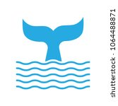 abstract symbol of whale tail... | Shutterstock .eps vector #1064488871