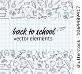 back to school background | Shutterstock .eps vector #1064489417