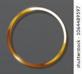 abstract luxury golden ring on... | Shutterstock .eps vector #1064489597