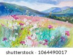 Summer In The Mountains.  Oil...