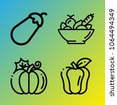 vegetarian vector icon set... | Shutterstock .eps vector #1064494349