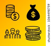 business vector icon set... | Shutterstock .eps vector #1064498759