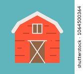 barn icon  flat design vector | Shutterstock .eps vector #1064500364