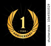 1 year anniversary. elegant... | Shutterstock .eps vector #1064503529