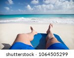 summer. exotic vacations. palm... | Shutterstock . vector #1064505299