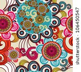 seamless vector background with ... | Shutterstock .eps vector #106450547