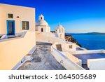 santorini  greece. fira  with...   Shutterstock . vector #1064505689