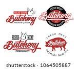 set of butcher shop and... | Shutterstock .eps vector #1064505887
