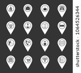 points of interest icons set...   Shutterstock .eps vector #1064526344
