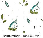 hand drawn vector abstract... | Shutterstock .eps vector #1064530745