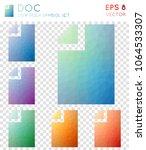 doc geometric polygonal icons.... | Shutterstock .eps vector #1064533307