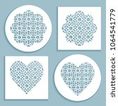 templates for laser cutting ... | Shutterstock .eps vector #1064541779