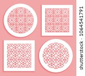 templates for laser cutting ... | Shutterstock .eps vector #1064541791