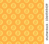 bitcoin seamless pattern. coins ... | Shutterstock .eps vector #1064545439