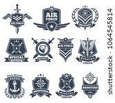Military Logos And Badges. Arm...