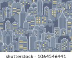 night city scape seamless... | Shutterstock .eps vector #1064546441